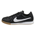 Nike Junior Tiempo Genio Leather IC (Black/White)