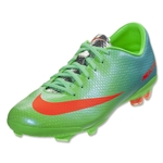 Nike Mercurial Vapor IX FG KIDS Cleats (Neo Lime/Metallic Silver/Polarized Blue)