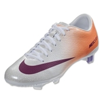 Nike Women's Mercurial Veloce FG (White/Atomic Orange/Atomic Violet/Bright Magenta)