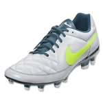 Nike Women's Tiempo Genio FG (White/Volt/Night Factor)