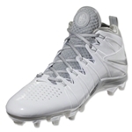 Nike Huarache 4 Lax Cleats (White/Metallic Silver)