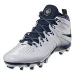 Nike Huarache 4 Lax Cleats (White/White/Navy)