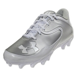 Under Armour Nitro Low MC Cleat (White/Metallic Silver)