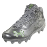 Under Armour Ripshot Mid MC Cleat (Metallic Silver)