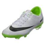 Nike Junior Mercurial Vapor IX FG (White/Electric Green)
