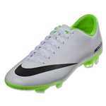 Nike Mercurial Victory IV FG (White/Black/Electric Green)
