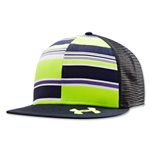 Under Amour Lax Flat Brim Trucker Cap (Navy)