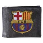 Barcelona Crest Embroidered Wallet