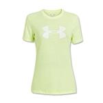 Under Armour Charged Cotton Women's Big Logo T-Shirt (Neon Yello)