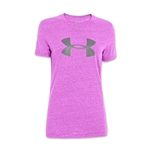 Under Armour Charged Cotton Women's Big Logo T-Shirt (Purple)