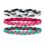 Under Armour -Pack Braided Mini Headbands 14 (Blk/Red)