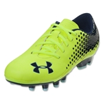 Under Armour Blur Flash IV FG Junior (High Vis Yellow/Metallic Navy)
