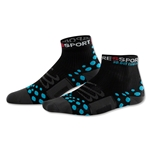 Compressport High Cut Racing Socks (Black/Sky Blue)