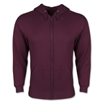 Full Zip Hooded Fleece (Maroon)