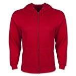 Full Zip Hooded Fleece (Red)