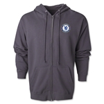 Chelsea Emblem Full Zip Fleece Hoody (Dark Gray)