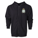 Santos Laguna Distressed Full Zip Hooded Fleece (Black)