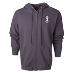 2014 FIFA World Cup Brazil(TM) Men's Official Emblem Full Zip Hoody (Dark Grey)