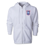 Ipswich Town Distressed Full Zip Hooded Fleece (White)