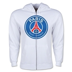 Paris Saint-Germain Full Zip Fleece (White)