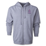Rugby Fights Cancer Full-Zip Hooded Sweatshirt (Gray)