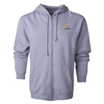 South Africa Springboks Full-Zip Hooded Fleece (Gray)