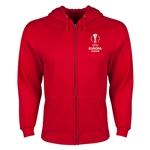 UEFA Europa League Full Zip Hooded Fleece (Red)