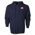 Chile Flag Full Zip Hooded Fleece (Navy)