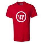 Warrior Crease Logo Lacrosse T-Shirt (Red)