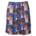 Warrior Caddy Madras Lacrosse Shorts (Royal/Orange)
