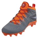 Nike Huarache 4 Limited Edition Lacrosse Shoes (Grey/Orange)