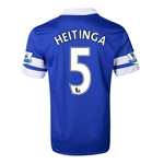 Everton 13/14 HEITINGA Home Soccer Jersey