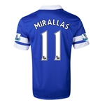 Everton 13/14 MIRALLAS Home Soccer Jersey