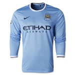 Manchester City 13/14 UCL LS Home Soccer Jersey