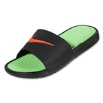 Nike Benassi Solarsoft Slide Sandal (Black/Neo Lime/Total Crimson)