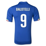 Italy 14/15 BALOTELLI Authentic Home Soccer Jersey