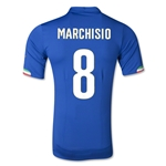 Italy 2014 MARCHISIO Authentic Home Soccer Jersey
