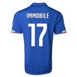Italy 14/15 IMMOBILE Home Soccer Jersey