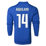 Italy 14/15 AQUILANI LS Home Soccer Jersey