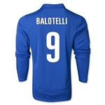 Italy 14/15 BALOTELLI LS Home Soccer Jersey