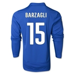 Italy 14/15 BARZAGLI LS Home Soccer Jersey