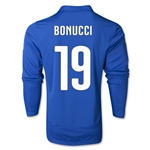 Italy 2014 BONUCCI LS Home Soccer Jersey
