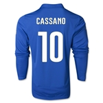 Italy 14/15 CASSANO LS Home Soccer Jersey
