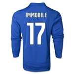 Italy 14/15 IMMOBILE LS Home Soccer Jersey