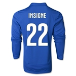 Italy 14/15 INSIGNE LS Home Soccer Jersey