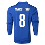 Italy 14/15 MARCHISIO LS Home Soccer Jersey