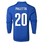Italy 14/15 PALETTA LS Home Soccer Jersey
