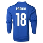Italy 14/15 PAROLO LS Home Soccer Jersey