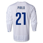 Italy 14/15 PIRLO LS Away Soccer Jersey