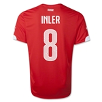 Switzerland 2014 INLER Home Soccer Jersey